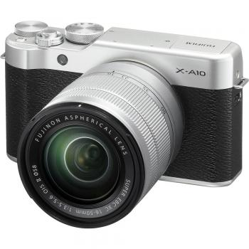 Fujifilm X-A10 Mirrorless Digital Camera with 16-50mm Lens (Silver)